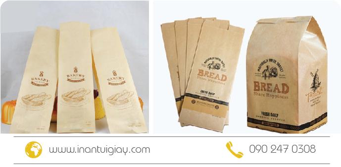 mẫu túi giấy bánh mì đẹp giá rẻ