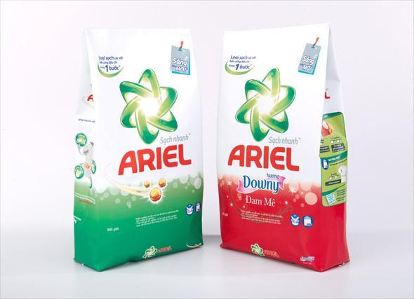 in túi giấy Ariel