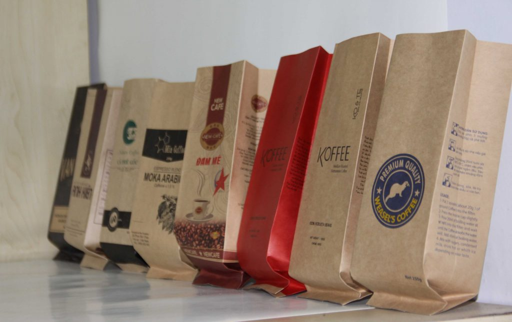 loại túi giấy kraft cà phê