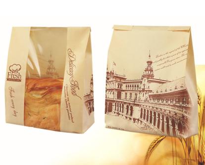 In túi giấy đựng bánh mì đẹp chất liệu giấy kraft