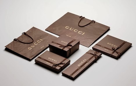 Mẫu bao bì túi giấy của Gucci