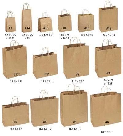 In túi giấy nhiều kích thước khác nhau