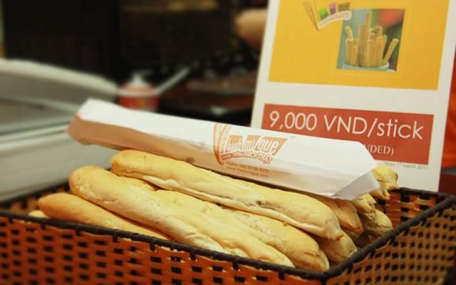 In túi đựng bánh mì que