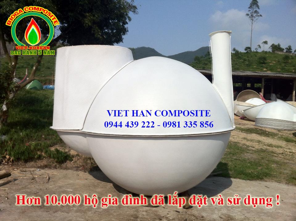 hầm biogas composite xử lý chất thải chăn nuôi lợn